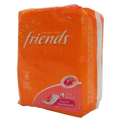 protector diario friends con fragancia 40und