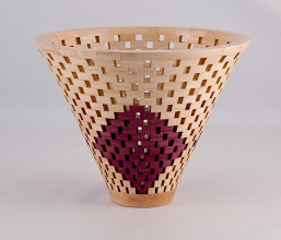"Photo: Bob Grudberg - 8"" x 6"" open segmented form [purpleheart and maple]"