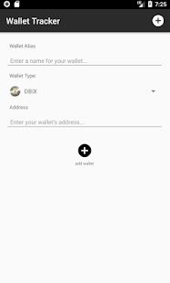 Wallet Tracker - náhled