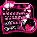 Pink Heart Glass Keyboard Theme icon