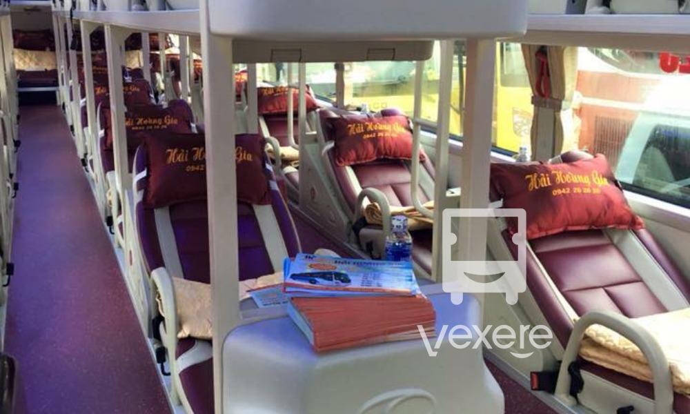 Nội thất xe Hải Hoàng Gia đi Nghệ An từ Đà Nẵng