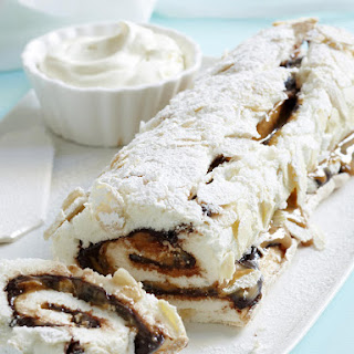 Chocolate and Almond Roulade.