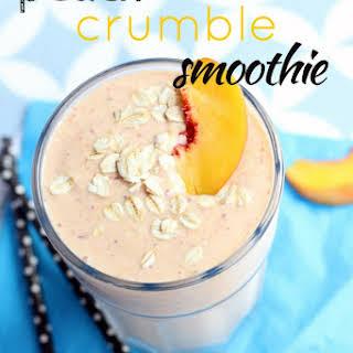 Peach Crumble Smoothie.