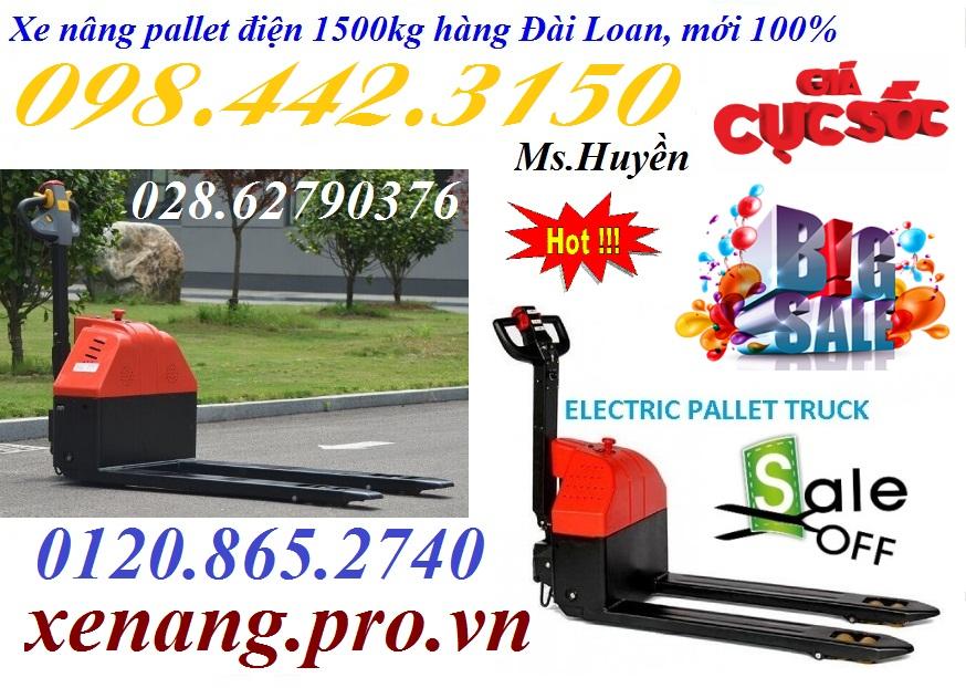 Xe nâng pallet điện 1500kg