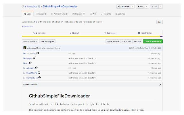 Github/Gitlab/Bitbucket File Downloader
