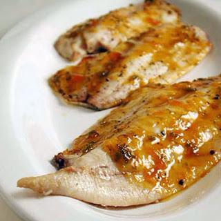 Pompano with Tropical Barbecue Glaze.