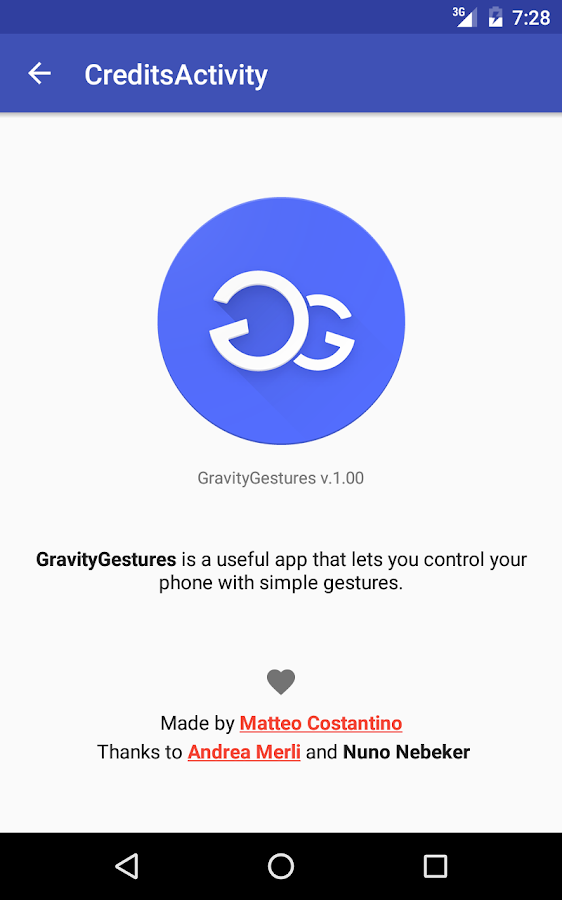 Gravity Gestures- screenshot