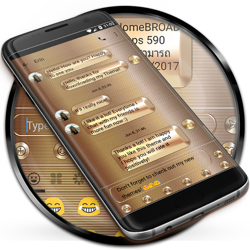 SMS Messages Gold Copper Theme