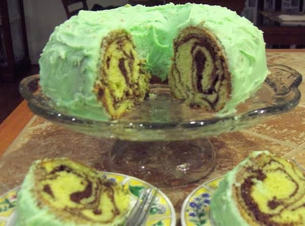 Pistachio Marble Cake Recipe