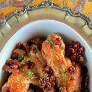 Cranberry Braised Turkey Wings - Pressure Cooker.