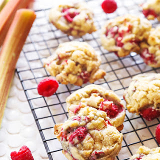 Rhubarb Raspberry Cookies.