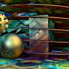 Balls and Swirls by Val Ewing - Print & Graphics All Print & Graphics ( balls, 3d, colors, futuristic, rounds, swirls, light, depth )
