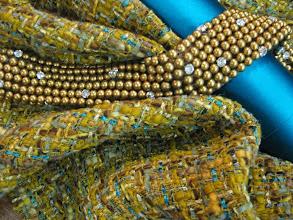 Photo: Ткань:Шанель вискоза,шерсть ,люрекс ш.140см.цена 4800руб . Ткань : Атлас стрейч нат .шелк ш.140см.цена 2900руб.Оттделочная тесьма ш.6см . цена 2000руб.