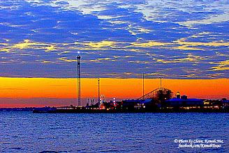 Photo: Kemah Boardwalk this morning!