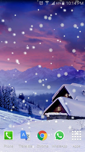 Snow Flakes Winter LWP