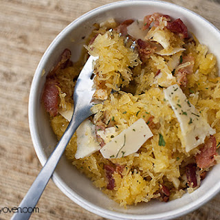 Spaghetti Squash with Bacon, Garlic, and Parmesan