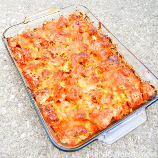 Sriracha Sweet Potato Ranch Chicken Bake