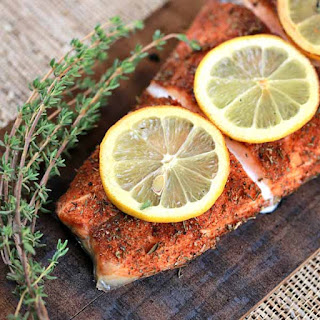 Grilled Cedar Plank Salmon Fillet