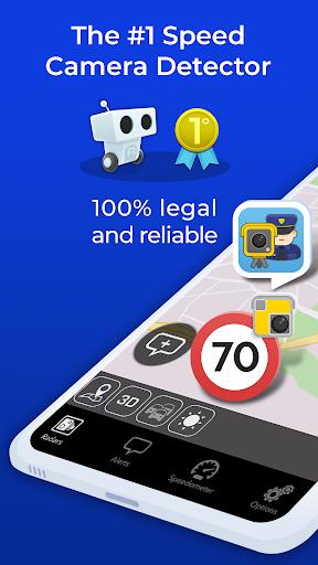 Radarbot Free: Speed Camera Detector & Speedometer 6.61 screenshots 1