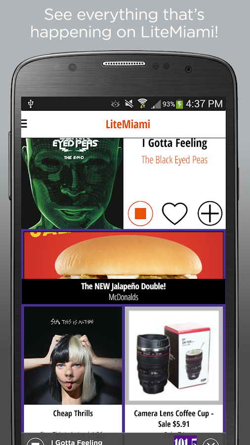 LiteMiami–101.5 LITE FM Radio- screenshot