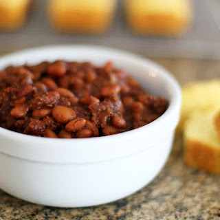 Spicy Ground Beef and Pinto Bean Chili.
