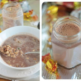 Granola With Chocolate Milk
