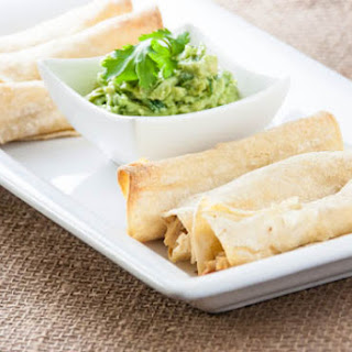 Oven-Baked Chicken Taquitos