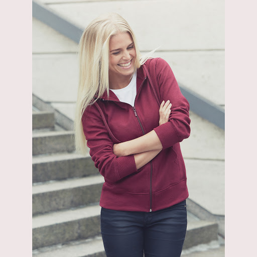 Neutral Organic Ladies Zip Hoodie