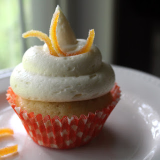 Orange Marmalade Cupcakes with Orange Butter Cream Cheese Frosting