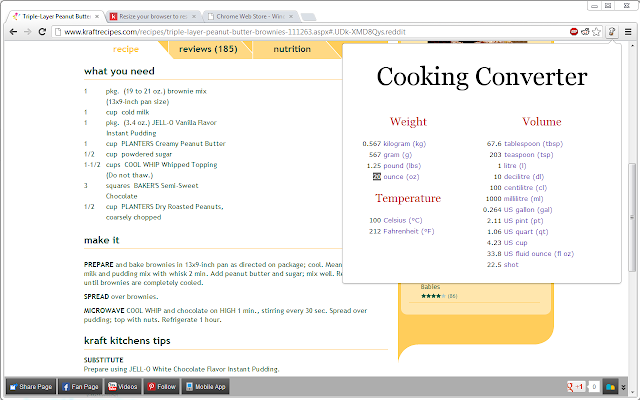 Cooking Converter Chrome Web Store