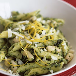 Penne with Pesto and White Beans