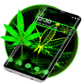 3D Live Neon Weed Launcher Icon