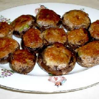 (Stuffed mushroom with shrimp).