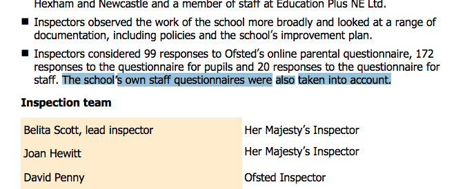 School Staff Surveys: Some examples of Good and Outstanding schools ...