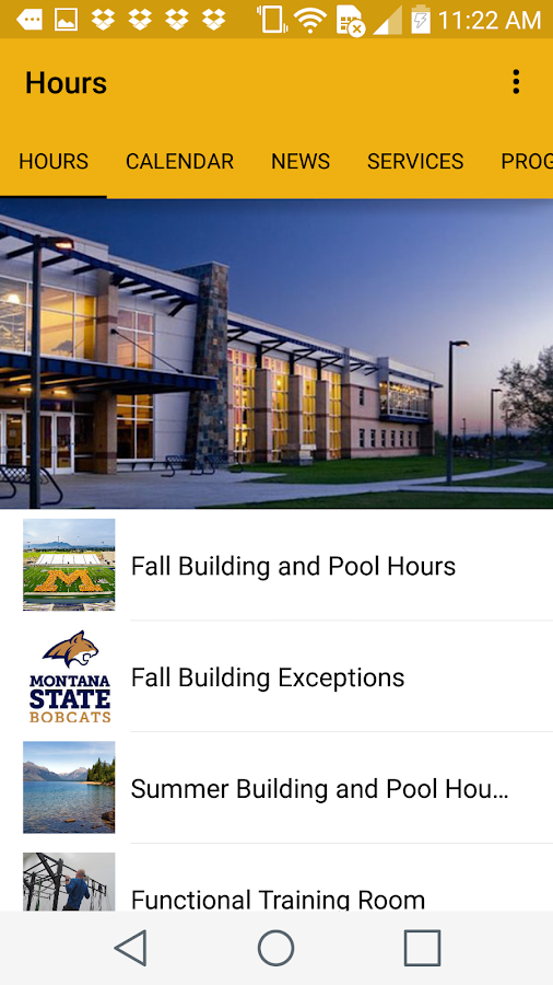 Montana State University Rec- screenshot