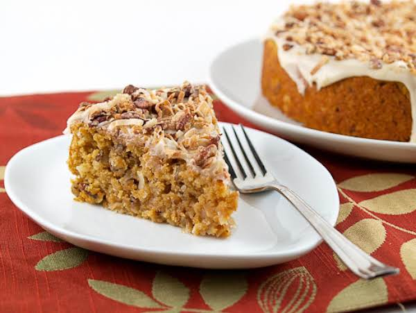 Sweet Potato Pecan Coconut Cake Recipe