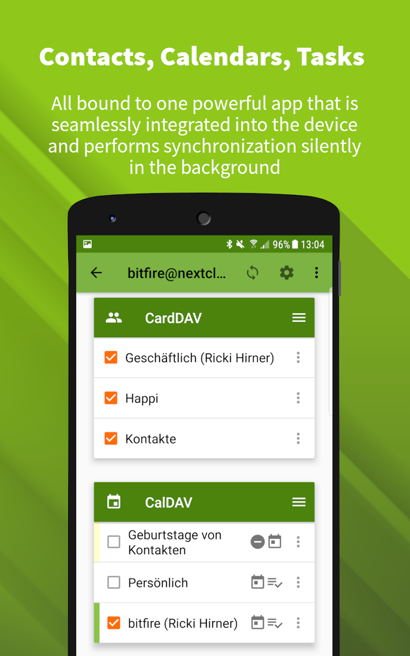 DAVx⁵ (DAVdroid) – CalDAV/CardDAV Client Screenshot 0