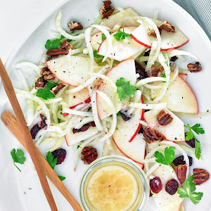 Apple Fennel Pecan Cranberry Salad