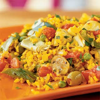 Quick Vegetarian Paella.