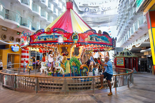 Children will love to take a ride on the Carousel on the Boardwalk of Allure of the Seas.