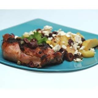 Zesty Roasted Chicken With Mediterranean Potatoes.