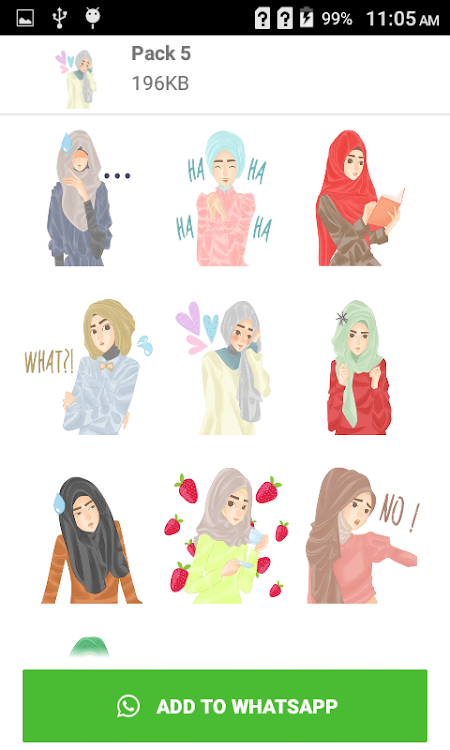 Cute Hijab Muslimah Stickers Wastickerapps Android Apps Appagg