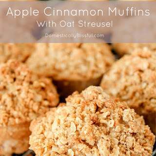 Apple Cinnamon Muffins with Oat Streusel
