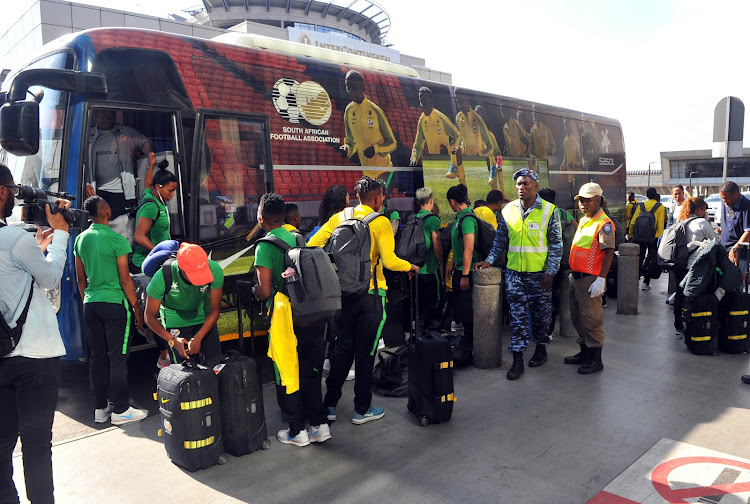General view of Banyana Banyana arrival at the Airpot during the Banyana Banyana Depature on the 09 November 2018 at OR Tambo International Airpot.