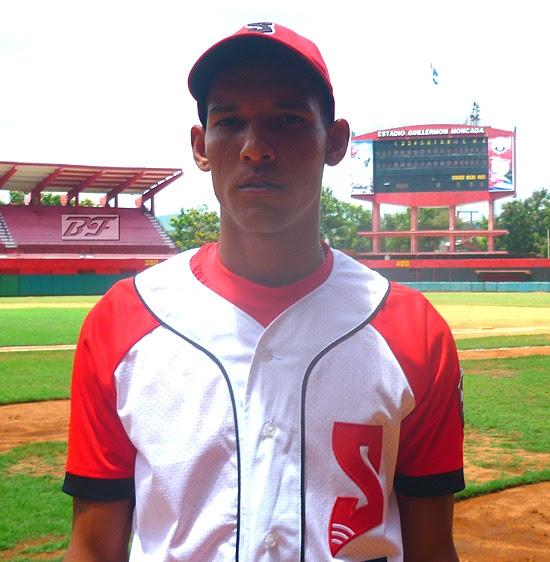 El lanzador santiaguero Ulfrido Garcia Andújar