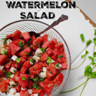 Mexican Watermelon Salad.