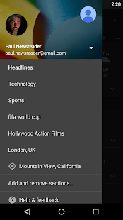 Google News & Weather- screenshot thumbnail