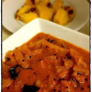 Ansache Sasav / Ananas Sasav / Pineapple Coconut Curry