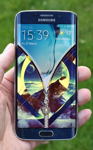 Hipster Zipper Screen Lock