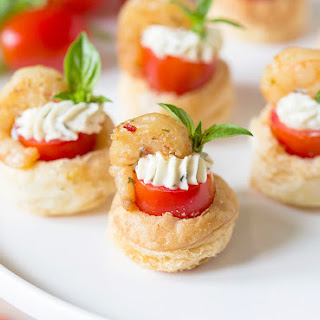 Shrimp & Tomato Pastry Tartlets.